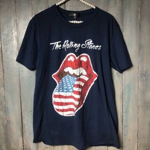 Missguided Rolling Stones Tee Shirt Graphic